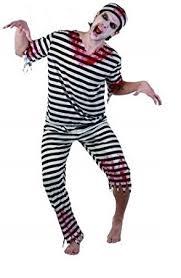 Halloween Costume Prisoner Sofias Closet Mens Boys Prisoner Costume Inmate Stripe Zombie