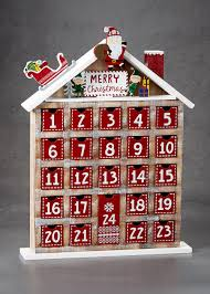 advent calendar wooden christmas advent calendar 44cm x 33cm matalan
