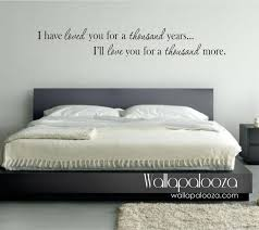 bedroom wall decor i have loved you a thousand years wall zoom