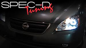 2006 nissan altima jdm specdtuning installation video 2002 2004 nissan altima projector