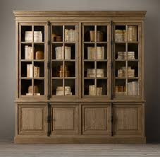 restoration hardware china cabinet french casement wide sideboard hutch wood shelving cabinets