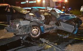 houston corvette c4 corvette driver causes five car pile up outside