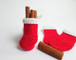 Christmas Stocking Decorations Crochet Stocking Etsy