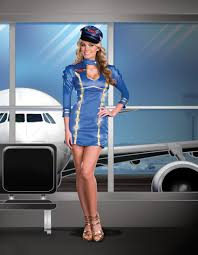 Halloween Flight Attendant Costume Amazing Light Air Stewardess Costume Worries Finding