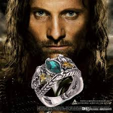 movie engagement rings images Movie jewelry the lord of the rings ring hobbit silver gemstone jpg