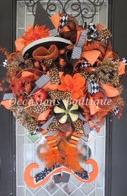 Etsy Halloween Wreath by 1402 Best Halloween Wreaths Images On Pinterest Halloween Mesh