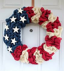 patriotic decorations how to make a burlap wreath