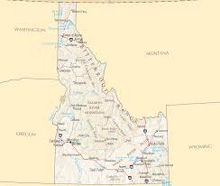physical map of idaho idaho reference map mapsof net