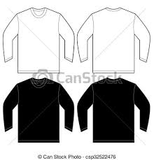 white long sleeve t shirt design template vector vectors
