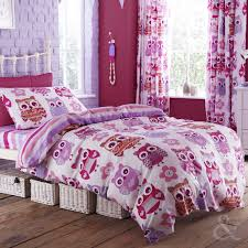 pink owl twin bedding home beds decoration