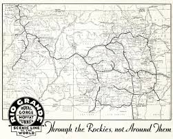 United States Railroad Map by The Denver And Rio Grande Western Railroad