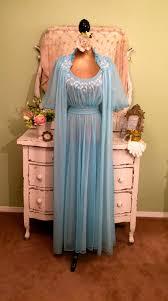 peignoir sets bridal beaded chiffon nightie set 50s nightgown robe wedding