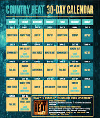 Country Heat Workout Calendar Exclusive Tips The Beachbody Blog