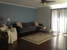 Two Tone Drapes What Color Furniture Should I Use For This Two Tone Blue Room