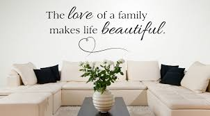wall decal for living room the love of a family makes life