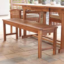 Outside Benches Home Depot by Walker Edison Furniture Company Boardwalk Brown Acacia Wood