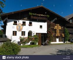 a typical large chalet style house in igls near innsbruck austria