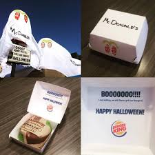 mcdonalds costumes for halloween burger king halloween treat is a trick targeting mcdonald u0027s