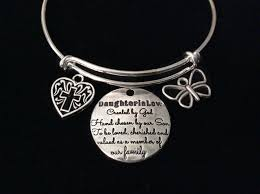 silver adjustable bracelet images Daughter in law heart expandable charm bracelet silver adjustable JPG