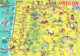 Oregon travel and tourism images Oregon tourist map the oregon trail pinterest tourist map jpg