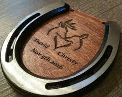 Personalized Horseshoe Horseshoe Art Etsy