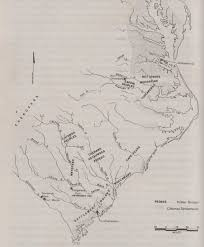 Map Of Eastern Virginia by Vance Hawkins A Partial History Of The Eastern Siouans