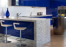 kitchen gorgeous blue kitchen decoration with blue glass granite
