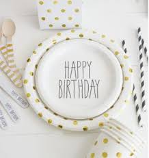 joonie u0026 joe party shoppe u2014 black print happy birthday cake plates