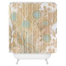 cori dantini shower curtain blue floral deny designs target