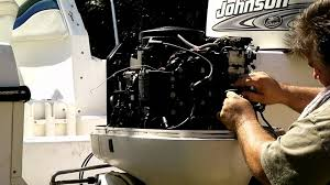 how to replacing the powerpack on a johnson evinrude outboard