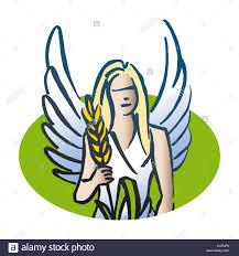 virgo astrological sign illustration stock photo royalty free