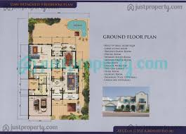 Semi Detached Floor Plans by Semi Detached Villas Floor Plans Justproperty Com