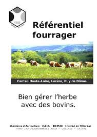 chambre d agriculture cantal introduction au rfrentiel fourrager chambre d agriculture du cantal