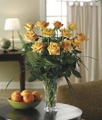 Long Stem Rose Vase Burst Of Orange Dozen Roses At From You Flowers