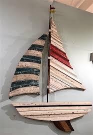 wood sailboat wall metal sailing ship boats large decor
