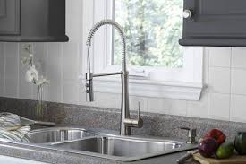 stainless steel pull kitchen faucet giagni fresco stainless steel 1 handle pull kitchen