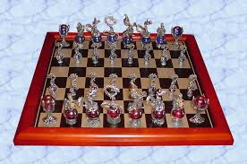 pewter chess sets by pewter manor