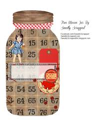 sweetly scrapped free mason jar printable with board game accents