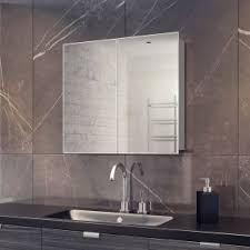 Illuminated Bathroom Mirror Cabinet by Led Bathroom Mirror Cabinets Built In Shaver Socket U0026 Demister