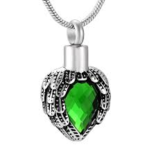 necklace urns for ashes tear drop rhinestone cremation urn pet human ashes urn memorial