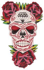 sugar skull tattoos for day of the dead family