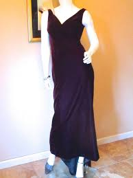 purple evening gown vintage escada silk velvet 1930s style formal