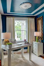 Blue And Gold Home Decor Photos Hgtv Blue Home Office With Contemporary Desk Loversiq