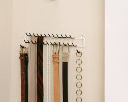 Ideas For Wall Mounted Tie Rack Design Closetmaid 8051 Tie And Belt Rack White Home Kitchen