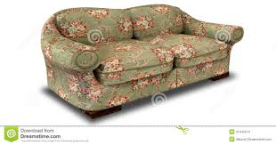 Red Floral Sofa by Old Floral Sofa Front Stock Photography Image 31442692