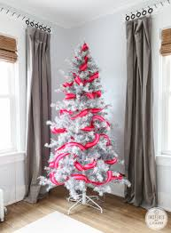 pretty pink christmas tree inspired by charm