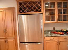 Wine Rack For Unused Space Over The Refrigerator Remove The Cabinet