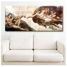 ready to hang canvas the creation of adam michelangelo framed