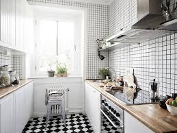 carrelage cuisine blanc awesome cuisine carrelage noir et blanc gallery design trends 2017