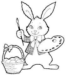 easter bunny coloring pages coloring pages print